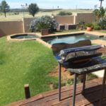 Patio solar cooking